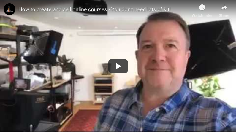 You don't need lots of kit to make a successful online course